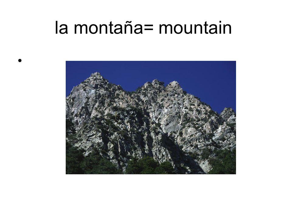 la montaña= mountain
