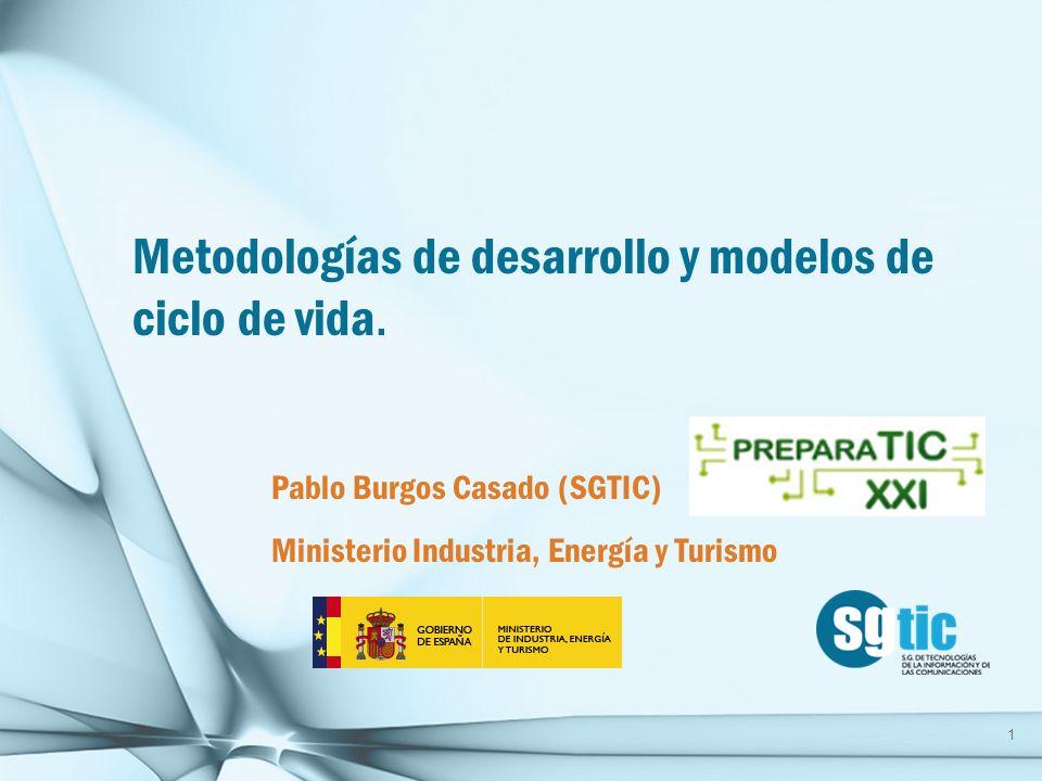 1.Introducción a las Metodologías 2.Métrica v3 3.Metodologías Agiles 4.SCRUM 5.XP 6.TDD 7.Modelo CMMI.