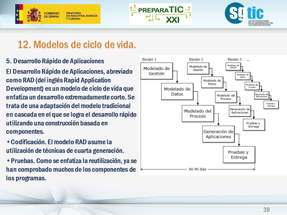 12.Modelos de ciclo de vida. 39 5.
