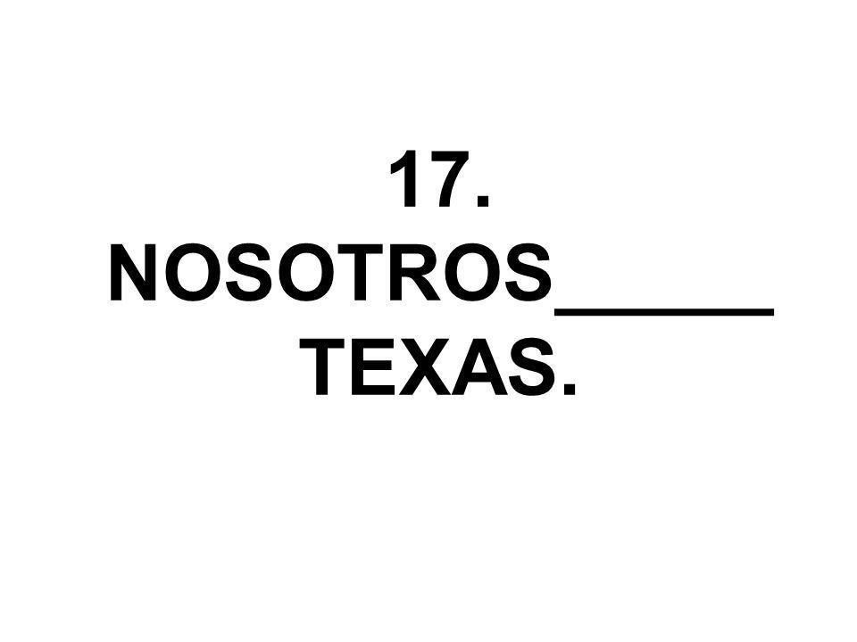 17. NOSOTROS_____ TEXAS.