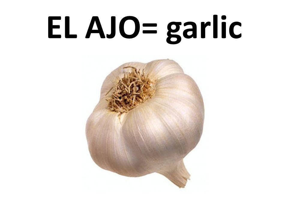 EL AJO= garlic