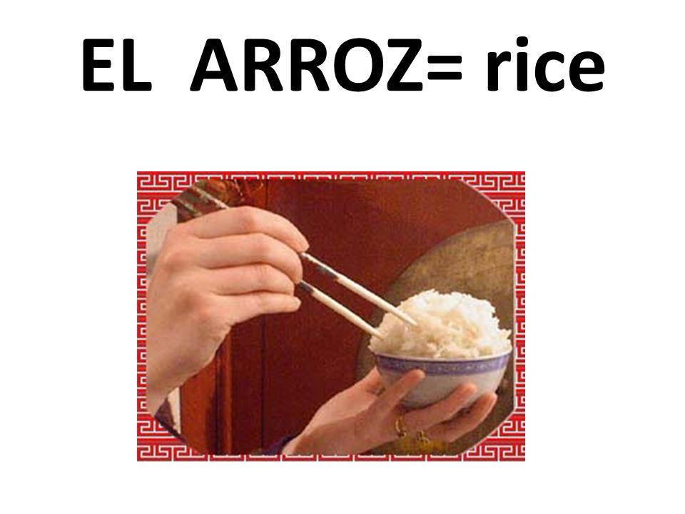 EL ARROZ= rice