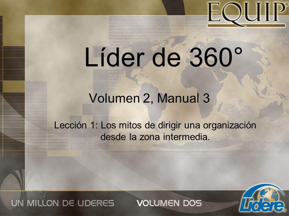 Líder de 360° Volumen 2, Manual 3 Lección 1: Los mitos de dirigir una organización desde la zona intermedia.