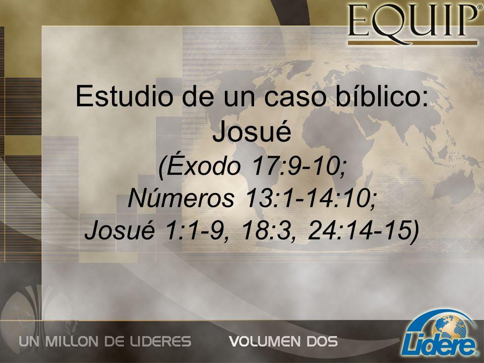 Estudio de un caso bíblico: Josué (Éxodo 17:9-10; Números 13:1-14:10; Josué 1:1-9, 18:3, 24:14-15)