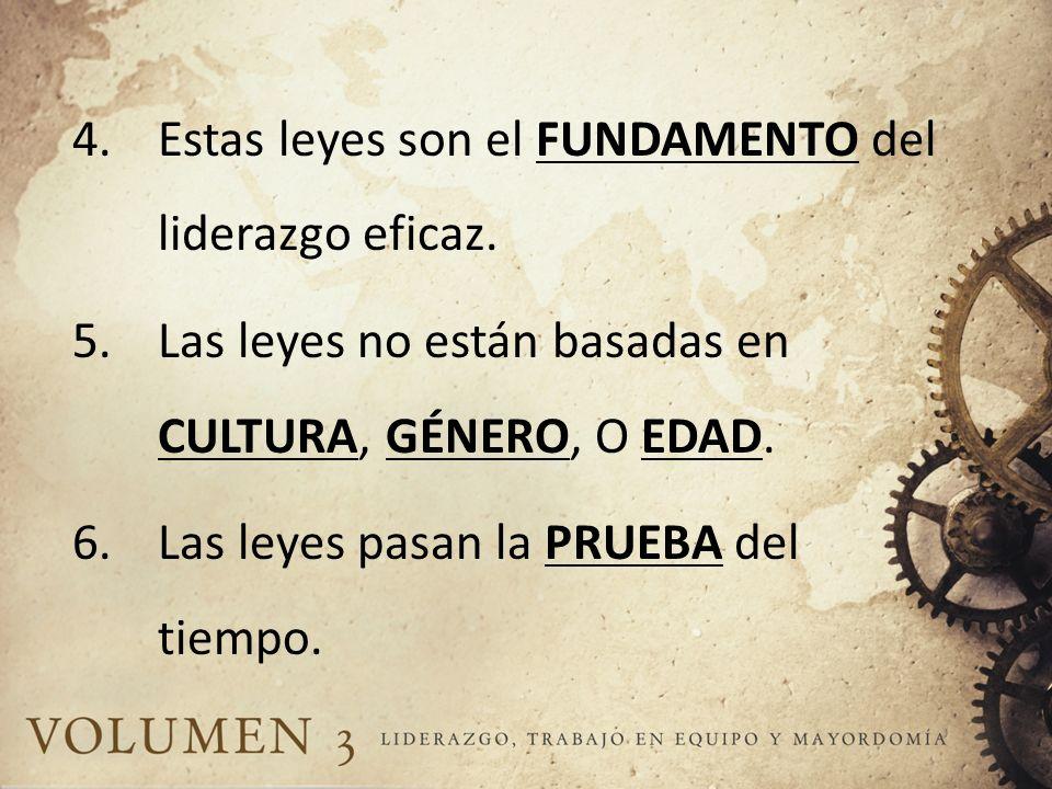 EL VIAJE DEL LIDERAZGO 1.El estudio y aplicación de las leyes de liderazgo requerirá TIEMPO y TENACIDAD.
