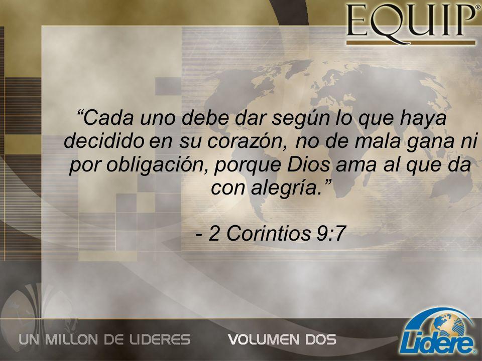 Principios para convertirse en un dador bíblico generoso 1. DECLARE quién es el Señor de su vida.