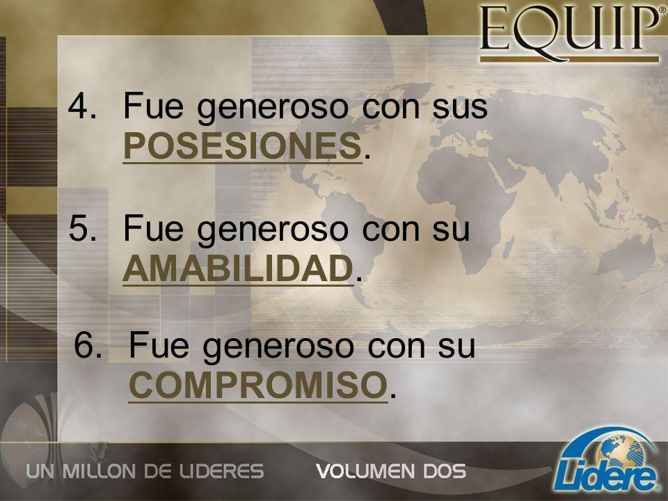 El líder de 360°es un ejemplo de generosidad en todas sus relaciones