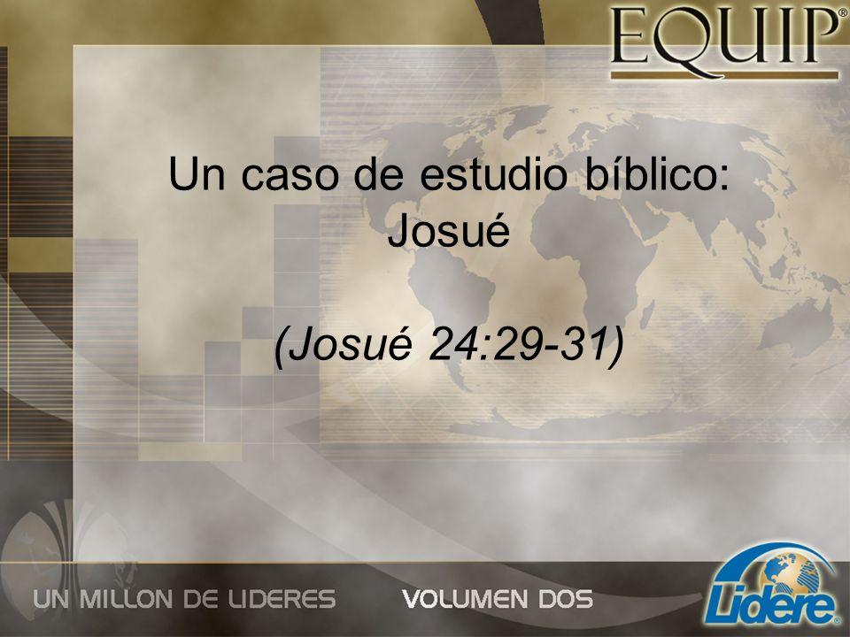 Un caso de estudio bíblico: Josué (Josué 24:29-31)