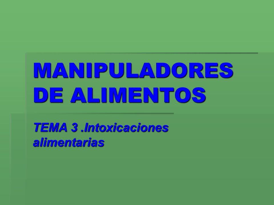 MANIPULADORES DE ALIMENTOS TEMA 3.Intoxicaciones alimentarias