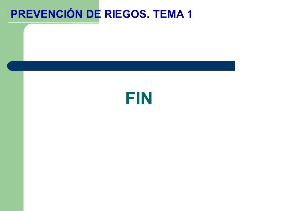 PREVENCIÓN DE RIEGOS. TEMA 1 FIN
