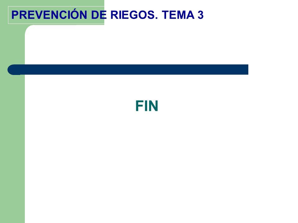 PREVENCIÓN DE RIEGOS. TEMA 3 FIN