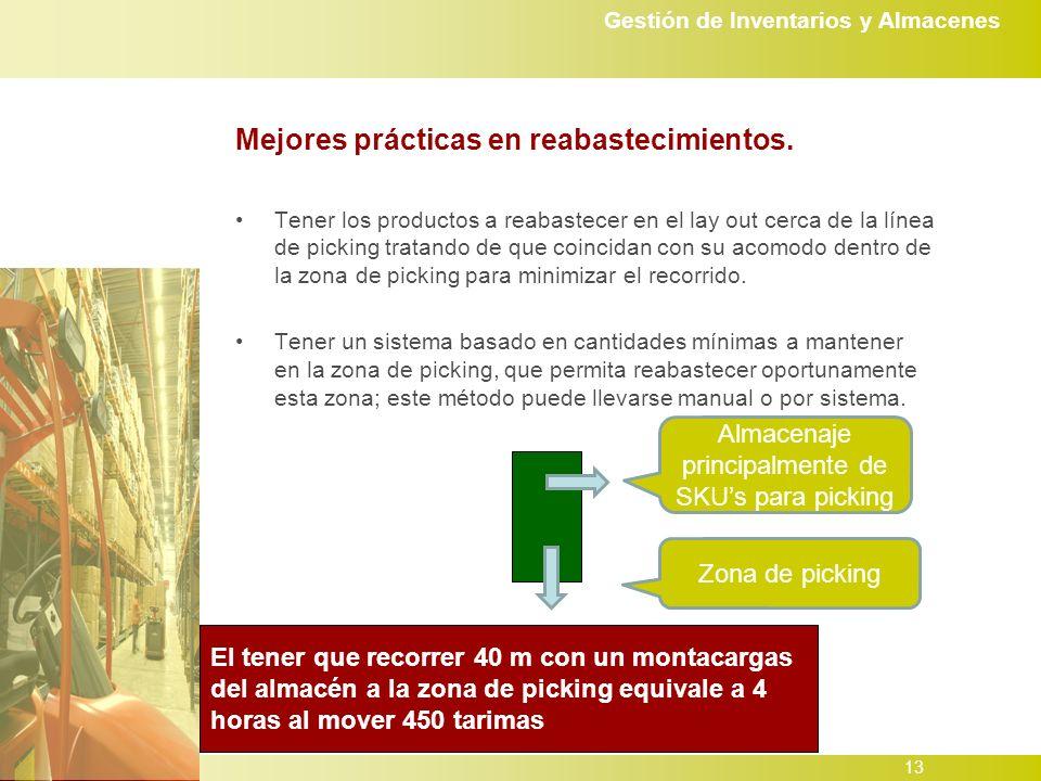 Gestión de Inventarios y Almacenes 13 Mejores prácticas en reabastecimientos.