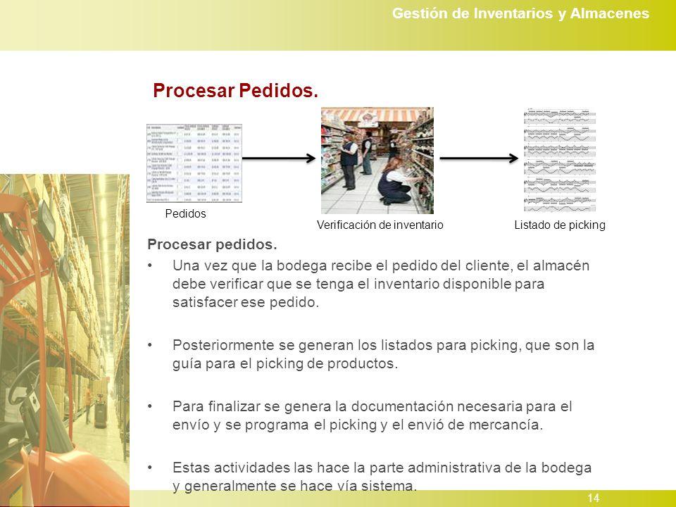 Gestión de Inventarios y Almacenes 14 Procesar Pedidos.