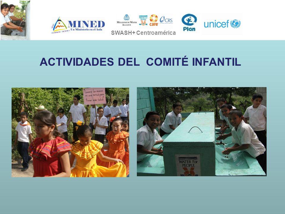 PRESIDENCIA DE LA REPÚBLICA Ministerio de Ambiente, Vivienda y Desarrollo Territorial SOSTENIBILIDAD EN LA EJECUCION DE LOS PROYECTOS SWASH+ SWASH+ Centroamérica ACTIVIDADES DEL COMITÉ INFANTIL
