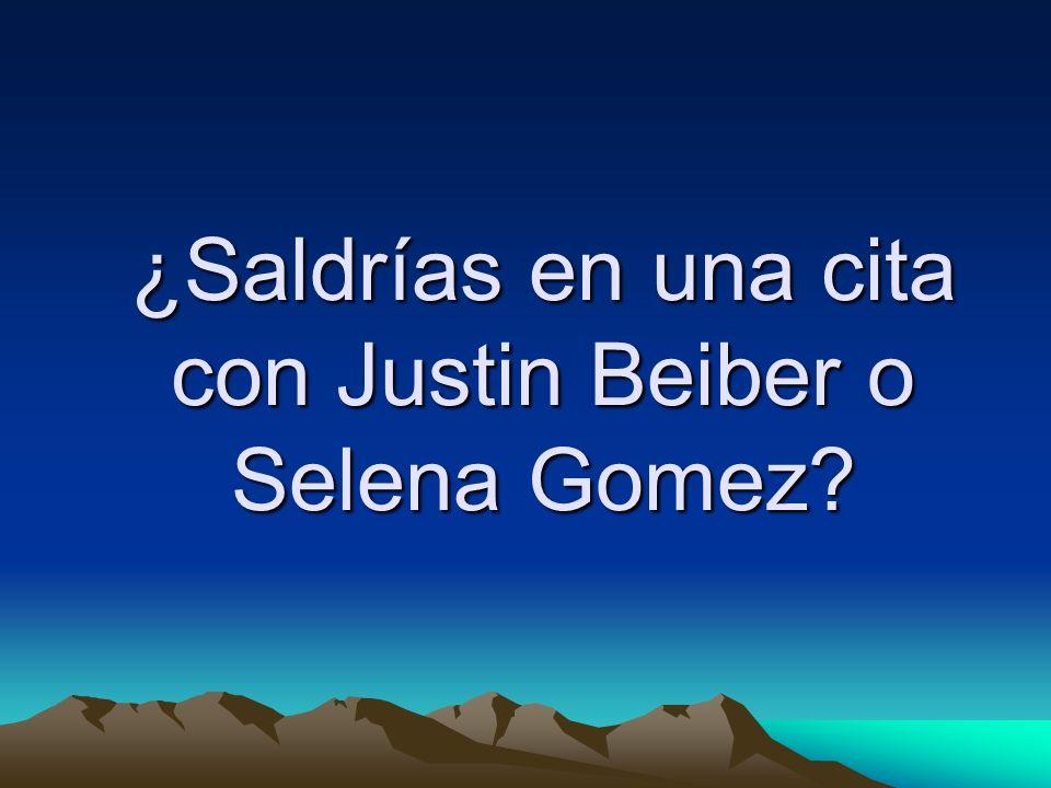 ¿Saldrías en una cita con Justin Beiber o Selena Gomez