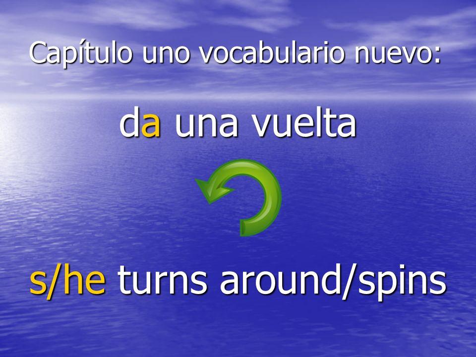 Capítulo uno vocabulario nuevo: dobla s/he turns