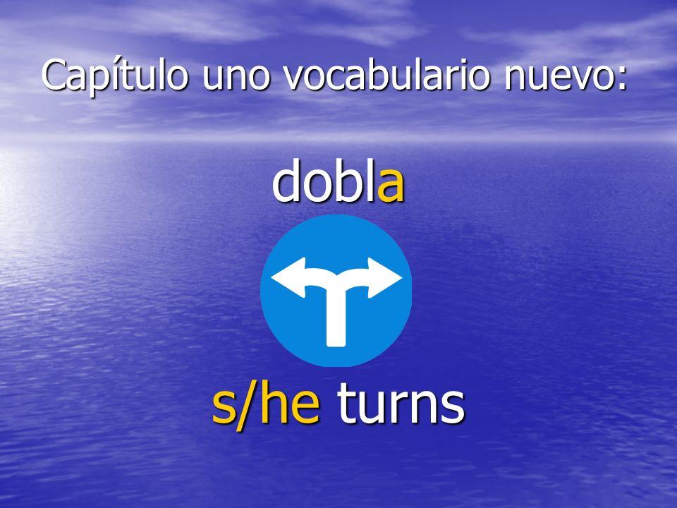 Capítulo uno vocabulario nuevo: tira s/he throws