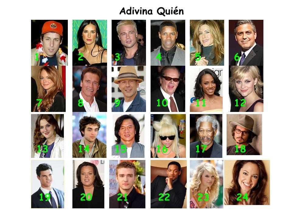 Adivina Quién 123456 789101112 131415161718 192021222324