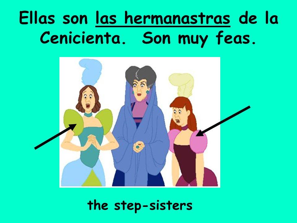 Ellas son las hermanastras de la Cenicienta. Son muy feas. the step-sisters
