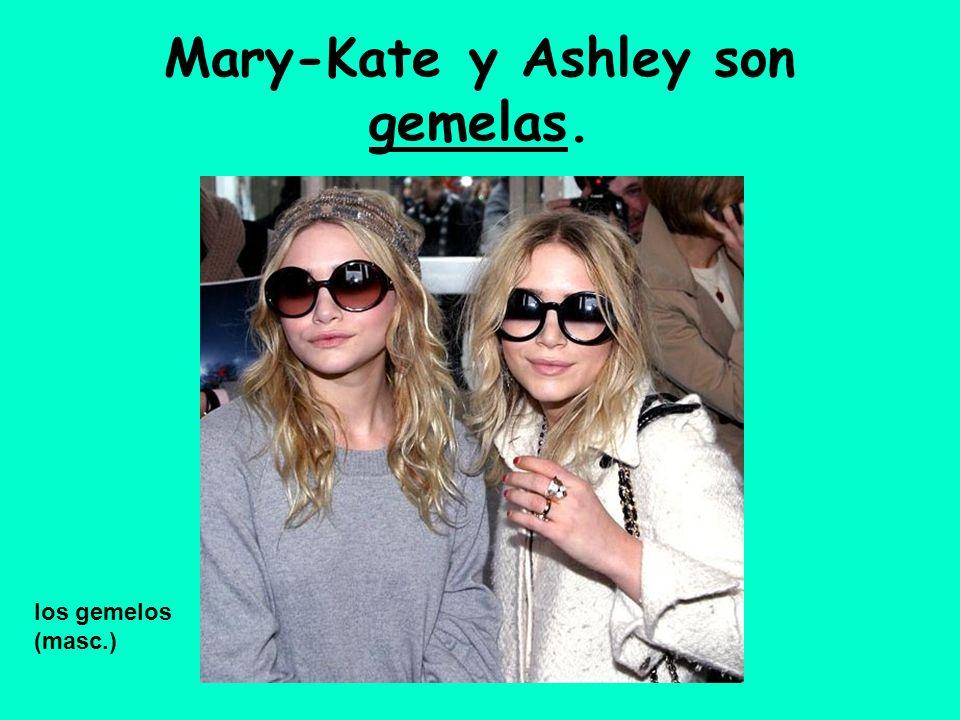 Mary-Kate y Ashley son gemelas. los gemelos (masc.)