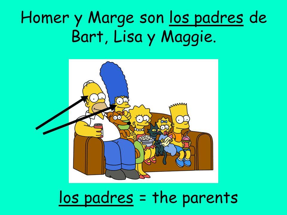Homer es el esposo de Marge.Marge es la esposa de Homer.