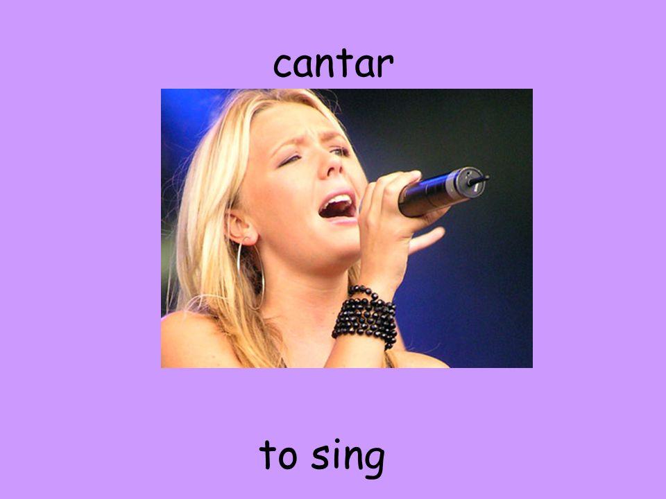 cantar to sing