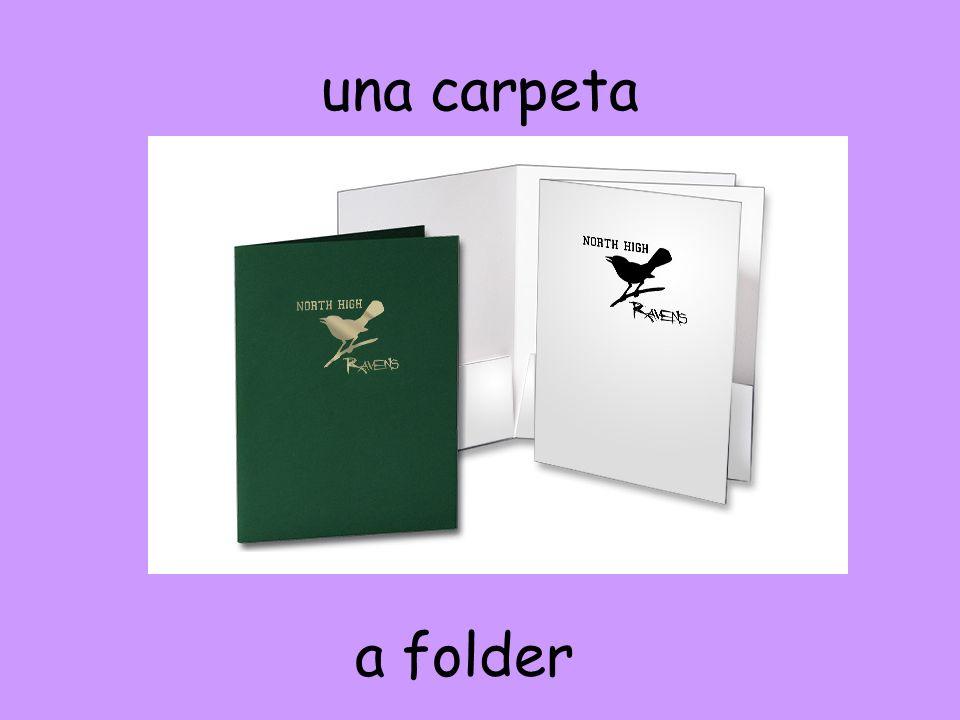 una carpeta a folder