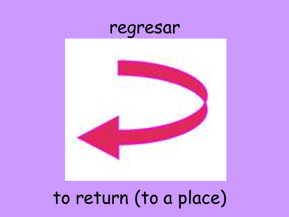 regresar to return (to a place)