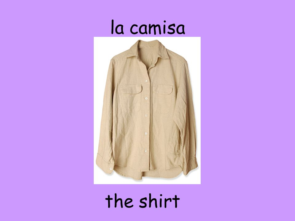 la camisa the shirt