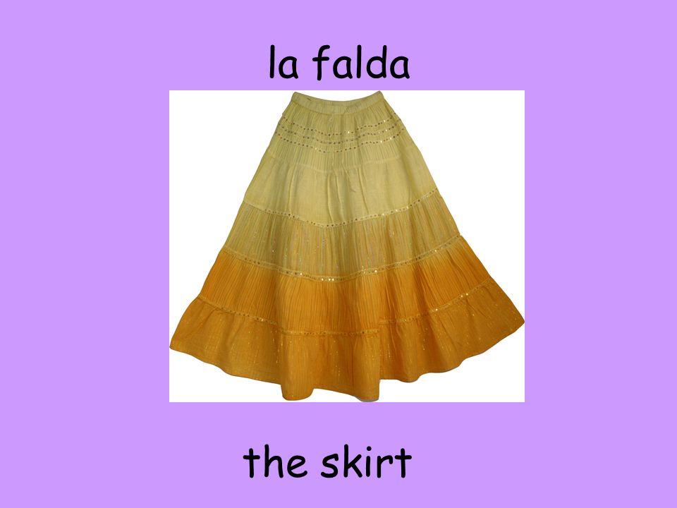 la falda the skirt