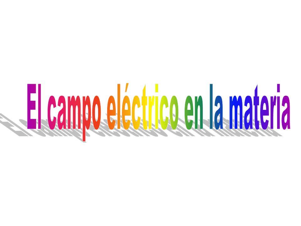 Capítulo 3: EL CAMPO ELÉCTRICO EN LA MATERIA 1.Los conductores, los semiconductores y los dieléctricos 2.Los sólidos cristalinos, los policristalinos y los amorfos 3.El dipolo eléctrico 4.La polarización 5.La generalización de la ley de Gauss 6.Los dieléctricos lineales, isotrópicos y homogéneos 7.La densidad de energía del campo eléctrico 8.Las condiciones de frontera para D y E 9.Las ecuaciones de Maxwell para la electrostática en medios materiales