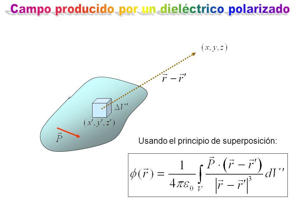 Usando el principio de superposición: