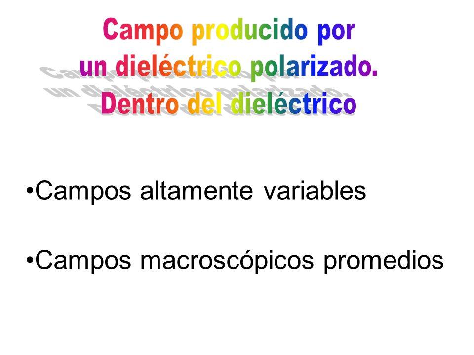 Campos altamente variables Campos macroscópicos promedios