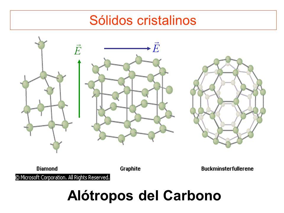Sólidos cristalinos Alótropos del Carbono