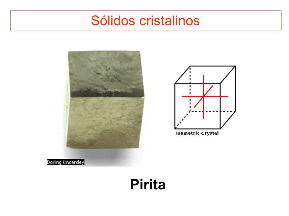 Sólidos cristalinos Pirita