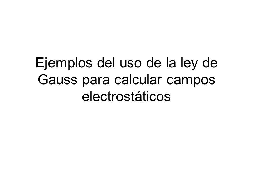 Ejemplos del uso de la ley de Gauss para calcular campos electrostáticos
