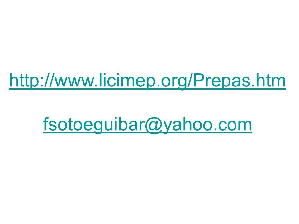 http://www.licimep.org/Prepas.htm fsotoeguibar@yahoo.com