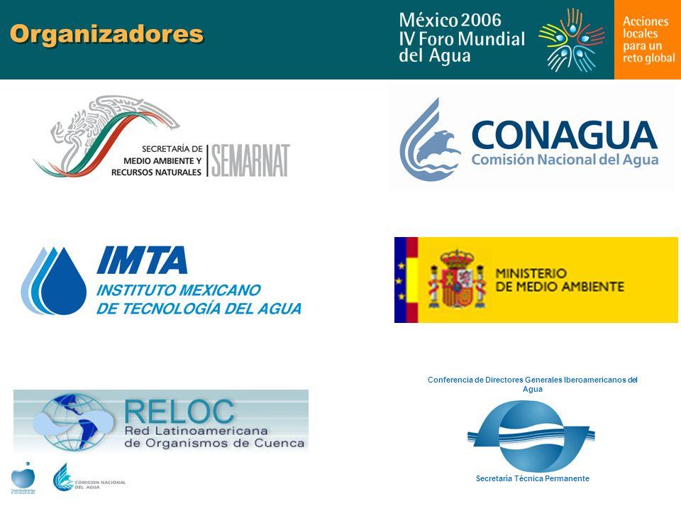 Organizadores Secretaría Técnica Permanente Conferencia de Directores Generales Iberoamericanos del Agua