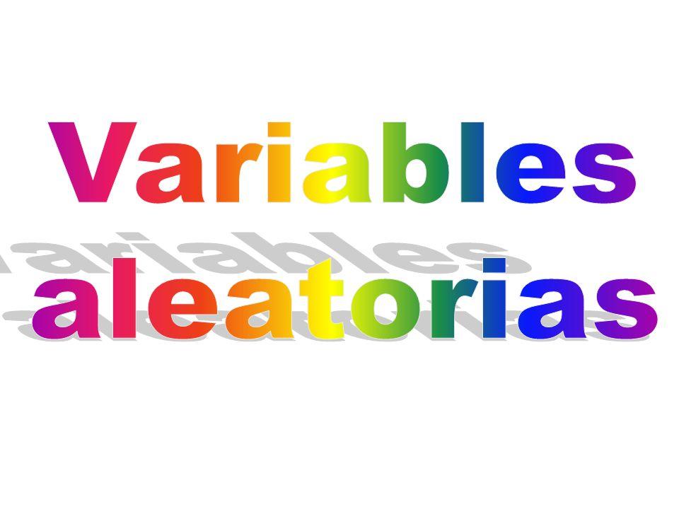 Una variable aleatoria es una función que asigna un número real a cada elemento del espacio muestral de un experimento.