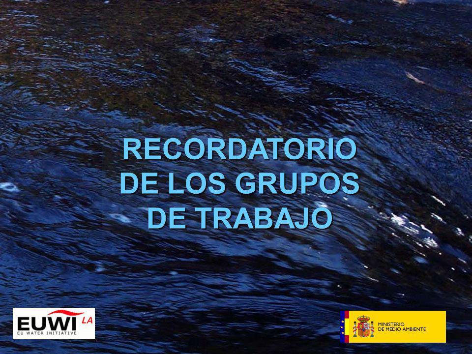 RECORDATORIO DE LOS GRUPOS DE TRABAJO