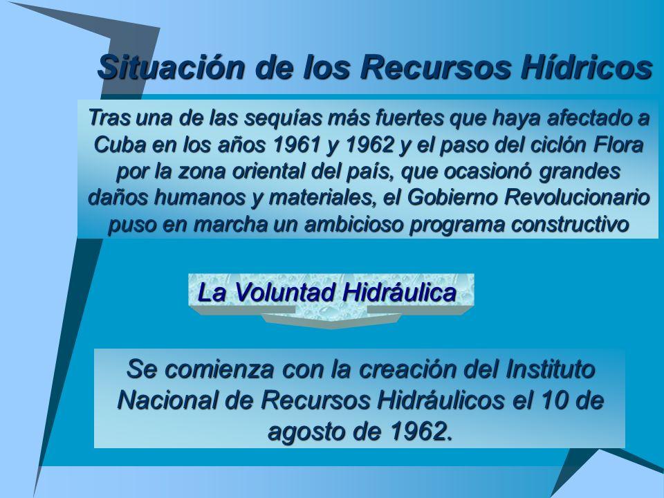 Situación de los Recursos Hídricos Tras una de las sequías más fuertes que haya afectado a Cuba en los años 1961 y 1962 y el paso del ciclón Flora por