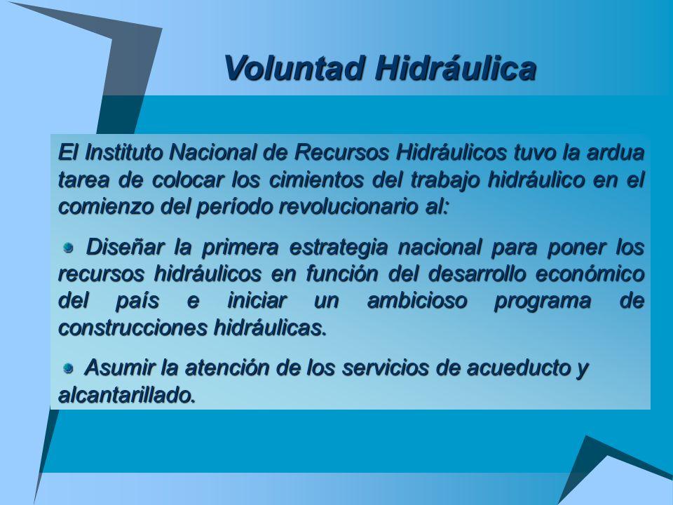 Voluntad Hidráulica El Instituto Nacional de Recursos Hidráulicos tuvo la ardua tarea de colocar los cimientos del trabajo hidráulico en el comienzo d