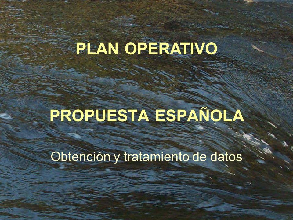 PROPUESTA ESPAÑOLA Obtención y tratamiento de datos PLAN OPERATIVO