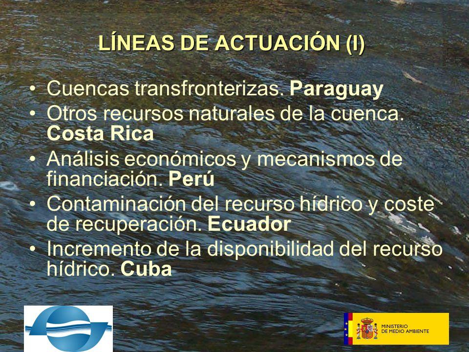 Cuencas transfronterizas. Paraguay Otros recursos naturales de la cuenca.