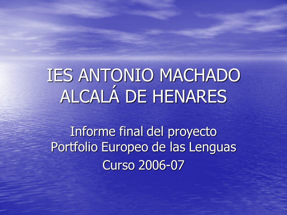 IES ANTONIO MACHADO 2.200 alumnos 207profesores.2.200 alumnos 207profesores.