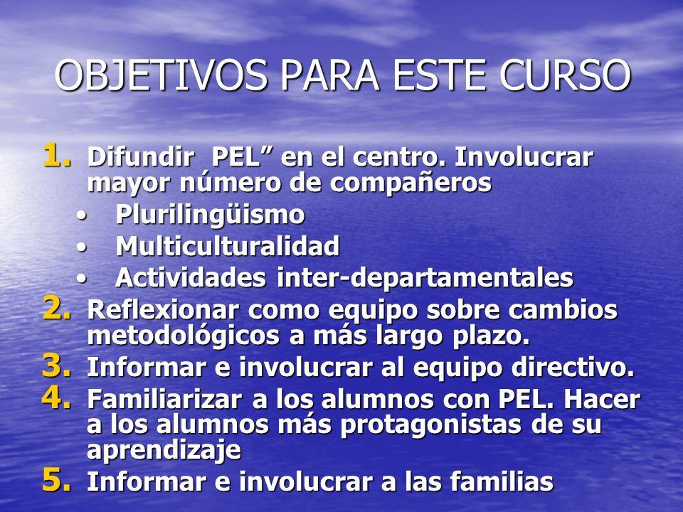 ESTRATEGIAS DE TRABAJO Integrar esfuerzos que ya se estén realizando.
