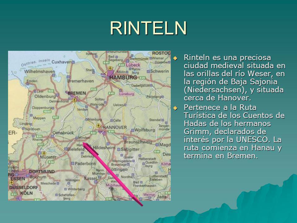 RINTELN Rinteln es una preciosa ciudad medieval situada en las orillas del río Weser, en la región de Baja Sajonia (Niedersachsen), y situada cerca de