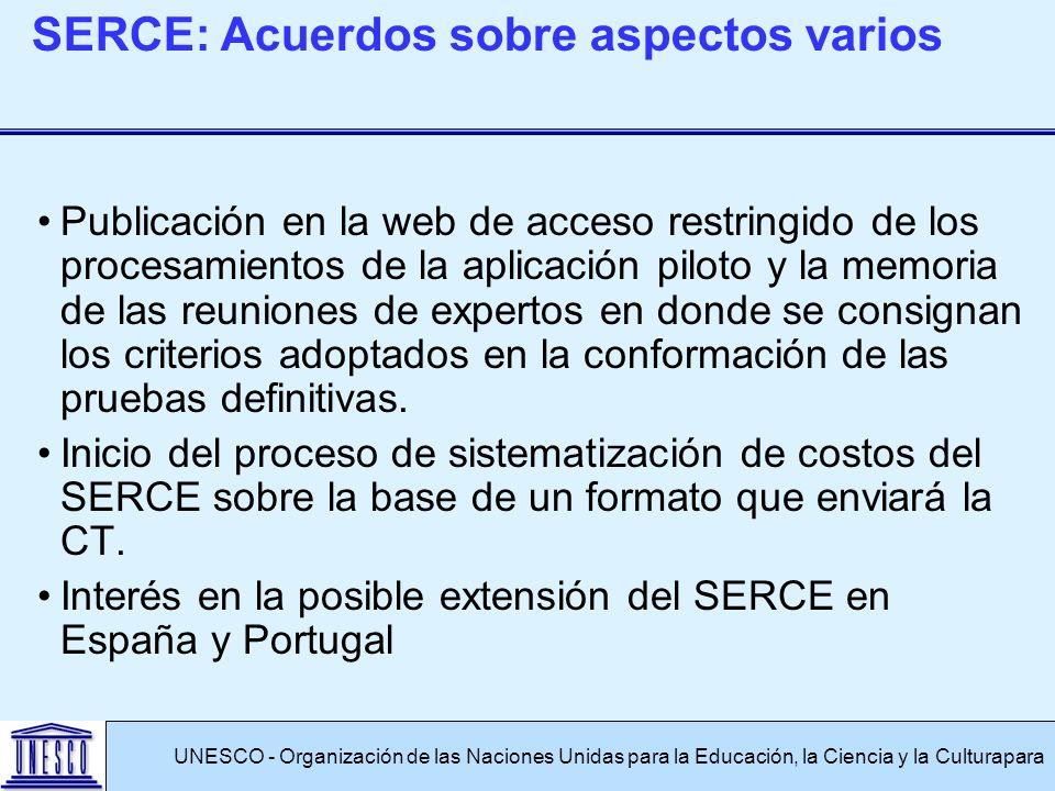 Publicación en la web de acceso restringido de los procesamientos de la aplicación piloto y la memoria de las reuniones de expertos en donde se consignan los criterios adoptados en la conformación de las pruebas definitivas.