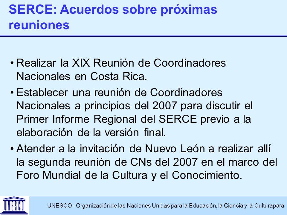 Realizar la XIX Reunión de Coordinadores Nacionales en Costa Rica.