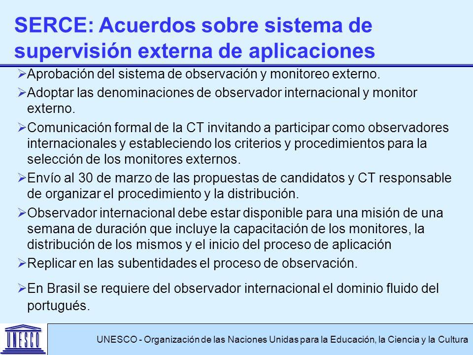 Aprobación del sistema de observación y monitoreo externo.